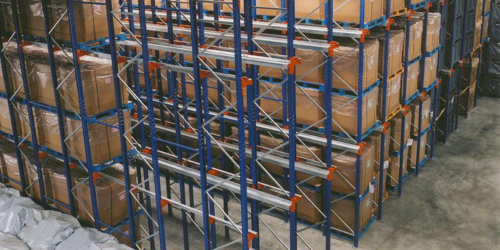 Drive in racking in use