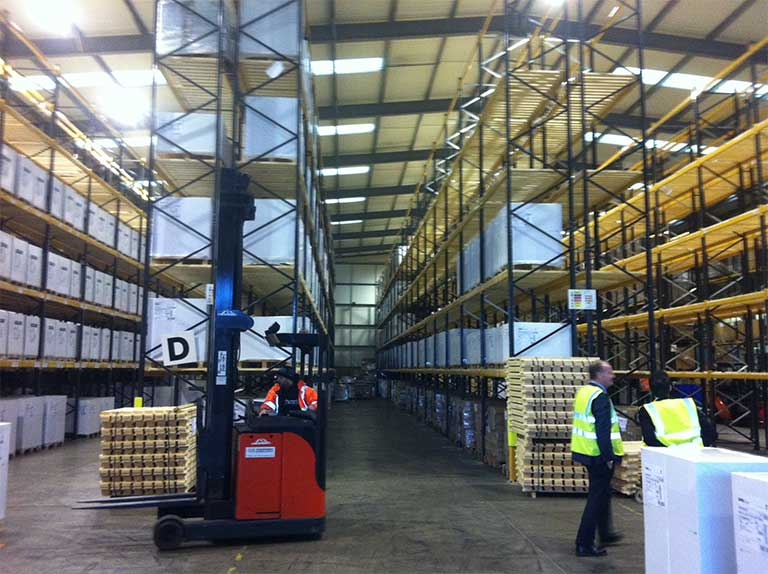Workers using Pallet Racking