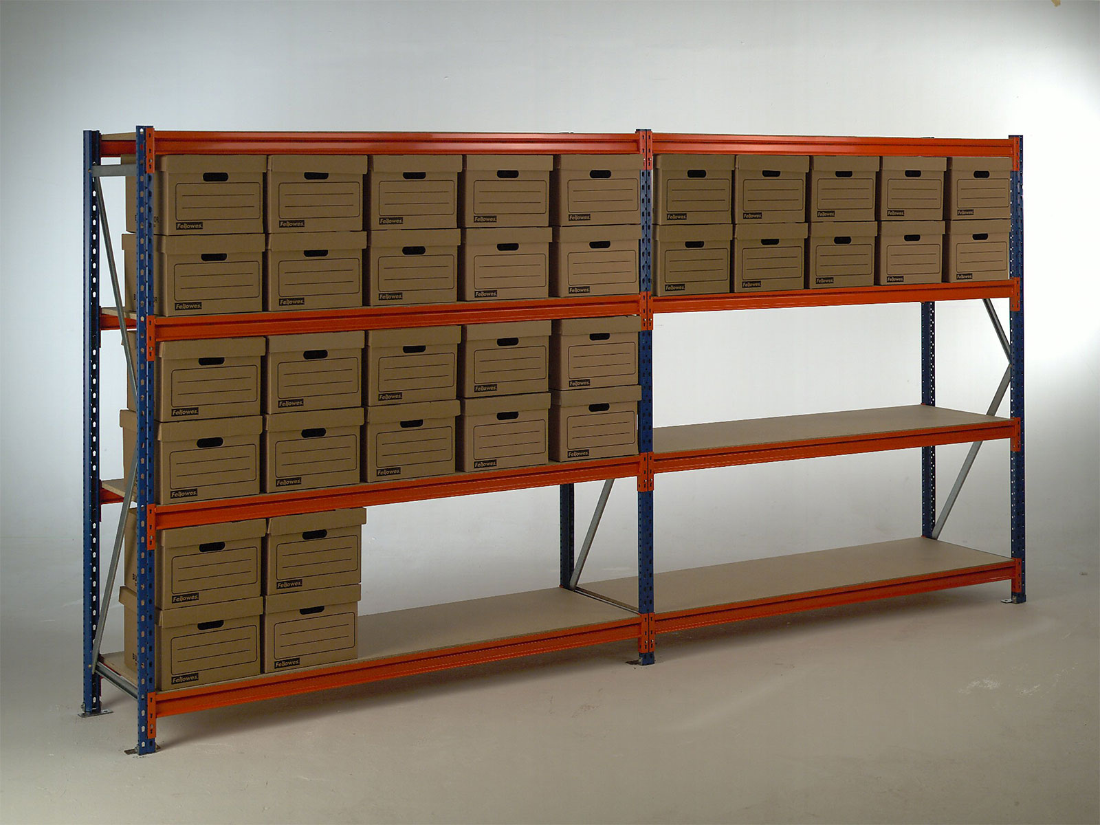 Long Span Shelving in use